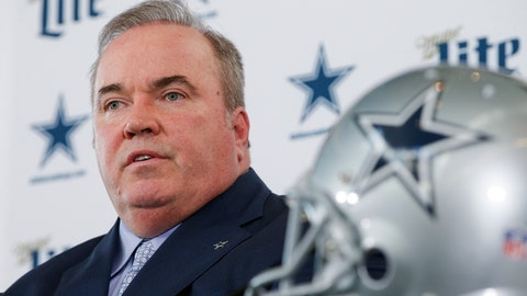 <p>               FILE - In this Wednesday, Jan. 8, 2020 file photo ,New Dallas Cowboys head coach Mike McCarthy is introduced during a press conference at the Dallas Cowboys headquarters in Frisco, Texas. Mike McCarthy has spent most of his first offseason as coach of the Dallas Cowboys at home in Green Bay. He's also leaning on the experience of 13 years leading the Packers to help figure out how to implement a new program while the coronavirus pandemic prevents him from being in the same room with players or assistant coaches. (AP Photo/Brandon Wade, File)             </p>