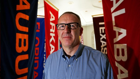 <p>               FILE - In this May 23, 2016, file photo, Southeastern Conference commissioner Greg Sankey poses in Birmingham, Ala. There are 130 major college football teams, spread across 41 states and competing in 10 conferences, save for a handful of independents. The goal is to have all those teams start the upcoming season at the same time — whether that's around Labor Day as scheduled or later — and play the same number of games.(AP Photo/Brynn Anderson, File)             </p>