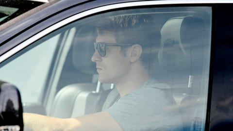 <p>               Aaron Ramsey arrives at the Juventus sports center to resume training in Turin, Italy, Tuesday, May 5, 2020. No soccer balls. No contact with teammates. And no entering the locker room. One by one, Serie A players are returning to the training field this week under a strict set of guidelines amid the coronavirus pandemic. (Fabio Ferrari/LaPresse via AP)             </p>