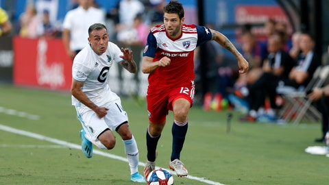 <p>               FILE - In this Aug. 10, 2019, file photo, FC Dallas defender Ryan Hollingshead plays the ball while Minnesota United forward Miguel Ibarra chases him during the first half of an MLS soccer match in Frisco, Texas. Hollingshead has been sheltering in place since Major League Soccer suspended the season because of the coronavirus outbreak. But his experience has been a bit different than other athletes in the same situation. He and his family have spent the time bonding with their foster son.  (AP Photo/Roger Steinman, File)             </p>