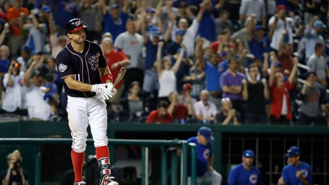 <p>               FILE - In this Sept. 13, 2018, file photo, as Chicago Cubs fans celebrate behind him, Washington Nationals' Ryan Zimmerman (11) reacts after striking out in the tenth inning of a baseball game at Nationals Park in Washington.  With baseball on hold during the coronavirus pandemic, Zimmerman is offering his thoughts -- as told to AP Sports Writer Howard Fendrich -- in a diary of sorts. In the eighth installment, Zimmerman discusses what his biggest concerns would be about resuming competition in 2020, starting with assurances about testing for COVID-19. (AP Photo/Jacquelyn Martin, File)             </p>
