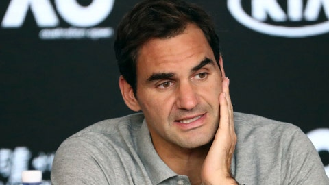 <p>               FILE - In this Jan. 30, 2020, file photo, Switzerland's Roger Federer speaks during a press conference following his semifinal loss to Serbia's Novak Djokovic at the Australian Open tennis championship in Melbourne, Australia. Federer leads the annual Forbes ranking of highest-paid athletes with what the magazine says is $106.3 million in total earnings. He is the first tennis player top the list since it was first compiled in 1990. (AP Photo/Dita Alangkara, File)             </p>