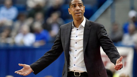 <p>               FILE - In this Feb. 15, 2018, file photo, Connecticut head coach Kevin Ollie reacts during the second half an NCAA college basketball game against Tulsa in Hartford, Conn. An NCAA panel on Wednesday, May 6, 2020 rejected an appeal by former UConn men's basketball coach Kevin Ollie, who sought to overturn findings that he violated ethical conduct rules while leading the Huskies.. (AP Photo/Jessica Hill, File)             </p>