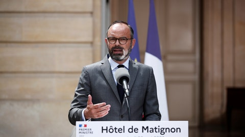 <p>               French Prime Minister Edouard Philippe presents the details of the health procedures to be adopted for the upcoming mayoral elections, Friday May 22, 2020 in Paris. French Prime Minister Edouard Philippe announced that France would hold the second round of municipal elections on June 28 _ nearly four months after the first round in March in an electoral process interrupted by lockdown to fight spread of the coronavirus. (Benoit Tessier/Pool via AP)             </p>