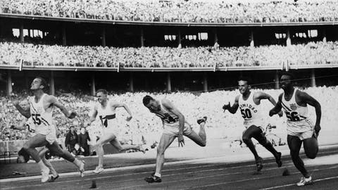 <p>               FILE - In this Nov. 23, 1956, file photo, United States' Bobby Joe Morrow (55) crosses the finish line of the men's 100-meter race in 10.5 seconds, equaling an Olympic record, during the Summer Olympics in Melbourne, Australia. Morrow, the Texas sprinter who won three gold medals in the 1956 Melbourne Olympics while a student at Abilene Christian University, died Saturday, May 30, 2020. He was 84. (AP Photo/File)             </p>