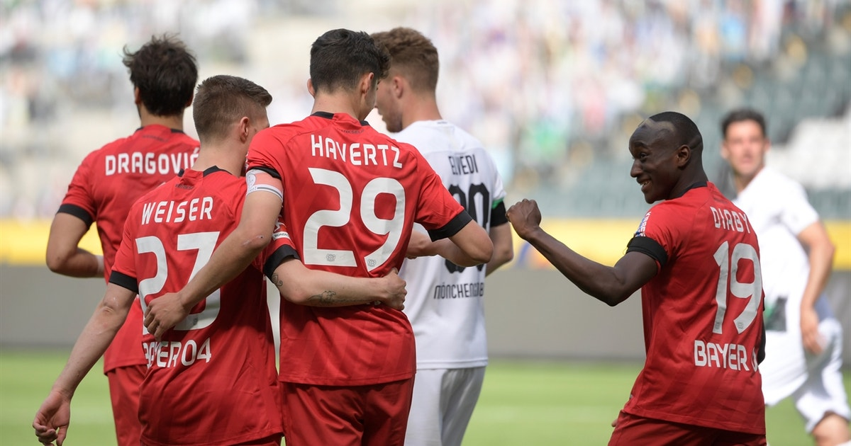 Kai Havertz scores twice to push Bayer Leverkusen past Borussia ...