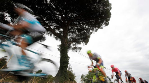 <p>               FILE - In this July 18, 2019 file photo, the pack rides during the twelfth stage of the Tour de France cycling race over 209,5 kilometers (130 miles) with start in Toulouse and finish in Bagneres-de-Bigorre, France. This year's Tour de France will now start on Aug. 29 in Nice and finish on Sept. 20 in Paris and will be followed by cycling's other two major races. The Tour could not start as scheduled on June 27 because of restrictions related to the coronavirus pandemic. (AP Photo/ Christophe Ena, File)             </p>