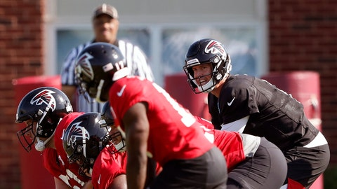 <p>               FILE - In this July 25, 2019, file photo, Atlanta Falcons quarterback Matt Ryan (2) and the offense prepare to run a play during their NFL training camp football practice in Flowery Branch, Ga. Several NFL teams are reopening their training facilities Tuesday, May 19, 2020, while many are prohibited by government restrictions during the coronavirus pandemic. Among the teams taking advantage of using their buildings on the first day they are allowed are the Falcons, Cardinals and Colts. (AP Photo/John Bazemore, File)             </p>