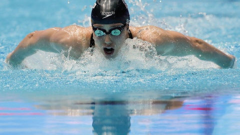 <p>               FILE - In this July 24, 2019, file photo, Hali Flickinger swims in the women's 200m butterfly semifinal at the World Swimming Championships in Gwangju, South Korea. With sports still largely on hold because of the coronavirus outbreak, some athletes and coaches have taken advantage of the unexpected free time to try new things, or maybe brush up on an old hobby. For Olympic swimmer Hali Flickinger, it's gardening and home renovations. (AP Photo/Lee Jin-man, File)             </p>