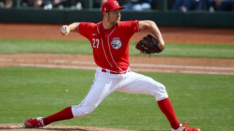 <p>               Cincinnati Reds pitcher Trevor Bauer throws against the Los Angeles Dodgers during the fourth inning of a spring training baseball game Monday, March 2, 2020, in Goodyear, Ariz. (AP Photo/Ross D. Franklin)             </p>