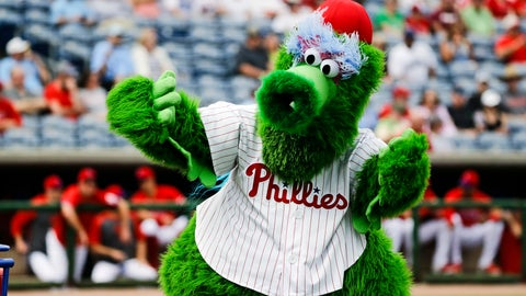 <p>               FILE - In this Feb. 25, 2020, file photo, The Phillie Phanatic mascot performs before a spring training baseball game against the Toronto Blue Jays in Clearwater, Fla. Mascots have no other place in baseball should the sport resume. Mascots will be banned. Take a look across the globe and mascots remained a staple of baseball games in Taiwan and the KBO League in South Korea. (AP Photo/Frank Franklin II, File)             </p>