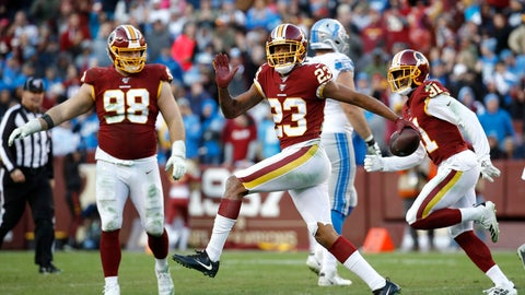 <p>               FILE - In this Nov. 24, 2019, file photo, Washington Redskins cornerback Quinton Dunbar (23) reacts after intercepting a pass from Detroit Lions quarterback Jeff Driskel during the second half of an NFL football game in Landover, Md. Dunbar got his wish when he asked out of Washington and got traded to Seattle during the offseason. Now he has a chance to learn the Seahawks system and potentially land himself a big pay day next year. (AP Photo/Patrick Semansky, File)             </p>
