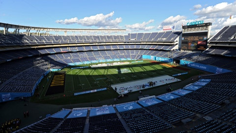 <p>               FILE - In this Dec. 27, 2019, file photo, a detailed view SDCCU stadium before the Holiday Bowl NCAA college football game in San Diego. The school has also begun looking at how it could safely host fans within social distancing guidelines, if fans will be allowed to attend games at 70,000-seat SDCCU Stadium. This season, 39 major college football schools have scheduled 49 so-called buy games worth an estimated $65 million. If coronavirus disruptions cause Power Five teams to play more or only conference games, stretched athletic budgets could face huge holes. (AP Photo/Orlando Ramirez, File)             </p>