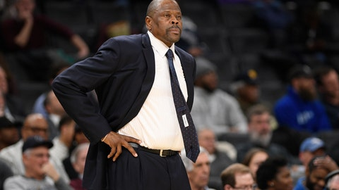 <p>               FILE - In this Wednesday, Feb. 5, 2020, file photo, Georgetown head coach Patrick Ewing looks on during the first half of an NCAA college basketball game against Seton Hall, in Washington. In a statement issued by Georgetown on Friday, May 22, 2020, Ewing has tested positive for COVID-19. (AP Photo/Nick Wass, File)             </p>