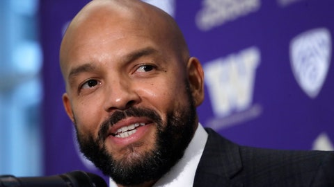 <p>               FILE - In this Dec. 3, 2019, file photo, Washington NCAA college football defensive coordinator Jimmy Lake speaks during a news conference about taking over the head coaching position, in Seattle. Just when it seemed like things were up and rolling, the COVID-19 pandemic hit. The ensuring national shutdown hurt coaches across college football as they prepare for next season, but it was particularly difficult on programs with first-year coaches trying to build something from the ground up. (AP Photo/Elaine Thompson, File)             </p>