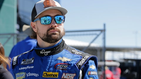 <p>               FILE - In this Feb. 9, 2020, file photom Ricky Stenhouse Jr. walks along pit road before qualifying for the NASCAR auto race at Daytona International Speedway, Su,day, in Daytona Beach, Fla. Stenhouse Jr. returned from NASCAR's 10-week shutdown and crashed on the first lap of the first race. His next two races weren't much better but Stenhouse finally got a break with a fourth-place finish Thursday night. Now he goes to Bristol Motor Speedway, where he has had strong runs before. The Cup Series races for the fifth time in 14 days on Sunday. (AP Photo/Terry Renna, File)             </p>