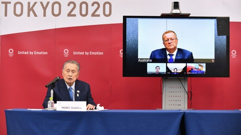 <p>               FILE - In this April 16, 2020, file photo, Tokyo 2020 Organizing Committee President Yoshiro Mori, left, speaks in teleconference with John Coates, chairman of the IOC's Coordination Commission for the Tokyo 2020 Olympic Games, in Tokyo. The Tokyo Olympics were postponed a month ago. But there are still more questions than answers about the new opening on July 23, 2021 and what form those games will take.(Kazuhiro Nogi/Pool Photo via AP, File)             </p>