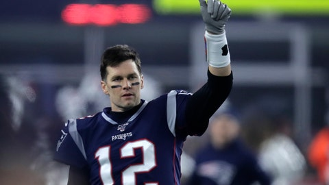 <p>               FILE - In this Jan. 4, 2020, file photo, New England Patriots quarterback Tom Brady gestures to a teammate before an NFL wild-card playoff football game against the Tennessee Titans in Foxborough, Mass. A highlight of the opening weekend of the NFL season will have Brady's regular-season debut with Tampa Bay against Drew Brees at New Orleans on Sept. 13 — the first matchup of 40-plus quarterbacks in NFL history. (AP Photo/Charles Krupa, File)             </p>