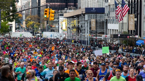 <p>               FILE - In this Nov. 3, 2019, file photo, runners take part in the New York City Marathon in New York. Non-profit organizations across the country are scrambling to keep their causes front of mind in the middle of the COVID-19 pandemic. Social distancing measures brought on by the coronavirus have forced non-profits that use participatory events like charity walks and runs as fundraisers are getting creative. (AP Photo/Eduardo Munoz Alvarez, File)             </p>