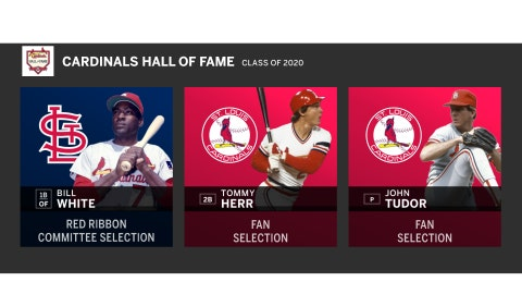Bill White, Tommy Herr and John Tudor were announced Friday night as the members of the Cardinals 2020 Hall of Fame Induction Class.