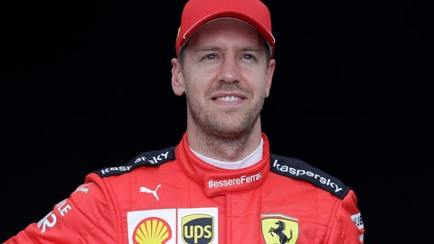 <p>               In this picture taken March 12, 2020 Ferrari driver Sebastian Vettel of Germany poses for a photo at the Australian Formula One Grand Prix in Melbourne. Four-time Formula One champion Sebastian Vettel will leave Ferrari at the end of the year, the Italian team said Tuesday, May 12, 2020. Ferrari said the decision was by mutual consent. (AP Photo/Rick Rycroft)             </p>