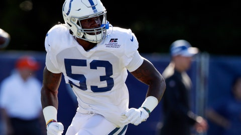 <p>               FILE - In this July 31, 2019, file photo, Indianapolis Colts outside linebacker Darius Leonard (53) runs a drill during practice at the NFL team's football training camp in Westfield, Ind. Leonard works relentlessly at his rural South Carolina home to prepare for another football season. He's also wary of pushing too hard, knowing a minor injury could become a major setback given the dearth of medical experts in his area. So when in doubt the Colts star confers with his coaches, who are creating safer, more efficient individual workout programs based on data collected the past few weeks. All part of a changing NFL world: high-tech devices supplanting old-school creativity. (AP Photo/Michael Conroy, File)             </p>