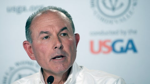 """<p>               FILE - In this July 10, 2016, file photo, John Bodenhamer, the USGA senior managing director of championship, answers questions during a press conference in San Martin, Calif. The COVID-19 pandemic, which already has postponed the U.S. Open from June to September, has forced the USGA to do away with qualifying for the first time since 1924. """"As you can imagine, this was an incredibly difficult decision, as qualifying is a cornerstone of USGA championships,"""" said Bodenhamer. (AP Photo/Eric Risberg)             </p>"""