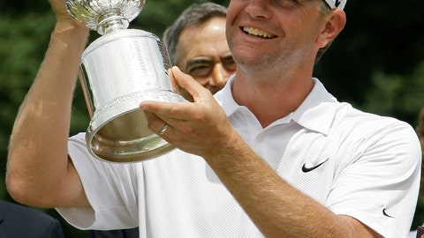 <p>               FILE - In this June 22, 2009, file photo, Lucas Glover holds his trophy after winning the U.S. Open Golf Championship at Bethpage State Park's Black Course in Farmingdale, N.Y. The COVID-19 pandemic, which already has postponed the U.S. Open from June to September, has forced the USGA to do away with qualifying for the first time since 1924. (AP Photo/Morry Gash)             </p>