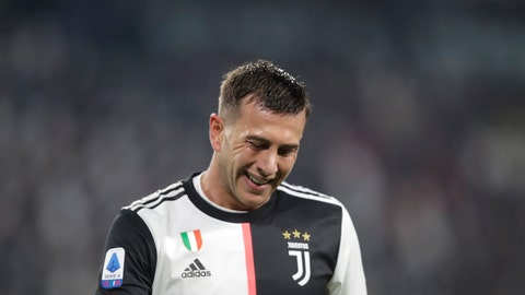 <p>               FILE - In this file photo dated Saturday, Oct.19, 2019,  Juventus' Federico Bernardeschi grimaces during a Serie A soccer match between Juventus and Bologna, at the Allianz stadium in Turin, Italy.  The weeks without playing has given Bernardeschi more time than ever to reflect on his responsibilities as a footballer, revealing Tuesday May 26, 2020, that family comes first as he reflects on sacrifices made by his family to enable him to attain his goals for Juventus and Italy. (AP Photo/Luca Bruno, FILE)             </p>