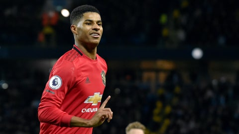 <p>               FILE - In this Saturday, Dec. 7, 2019 file photo, Manchester United's Marcus Rashford during their English Premier League soccer match against Manchester City at Etihad stadium in Manchester, England. Paul Pogba and Marcus Rashford are expected to be available for Manchester United whenever the Premier League is allowed to resume after its suspension because of the coronavirus outbreak. Rashford is United's top scorer and Pogba is the club's most high-profile player. They were both sidelined with long-term injuries at the time play was halted in England.  (AP Photo/Rui Vieira, file)             </p>
