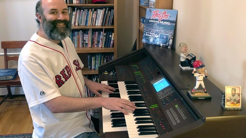 <p>               In this April 2020, photo provided by Josh Kantor, the Boston Red Sox organist plays the organ in his home in Cambridge, Mass. Each afternoon since what would have been opening day, Kantor has been live-streaming concerts of ballpark music and other fan requests from his home in an attempt to recreate the community feeling baseball fans might be missing while the sport is shut down during the coronavirus pandemic. (Mary Eaton/Josh Kantor via AP)             </p>