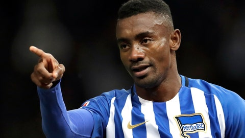 <p>               FILE - In this Wednesday, Sept. 20, 2017 file photo, Hertha's scorer Salomon Kalou celebrates his side's 2nd goal during the German Bundesliga soccer match between Hertha BSC Berlin and Bayer 04 Leverkusen in Berlin, Germany. Kalou is facing criticism for broadcasting a live stream showing social distancing measures being flaunted. The Ivory Coast striker brought his phone with him Monday, May 4, 2020 as he fist-bumped teammates in greeting, clapped hands with fellow forward Vedad Ibisevic, complained about a pay-cut, and burst in on another teammate apparently being tested for the new coronavirus.(AP Photo/Michael Sohn, file)             </p>