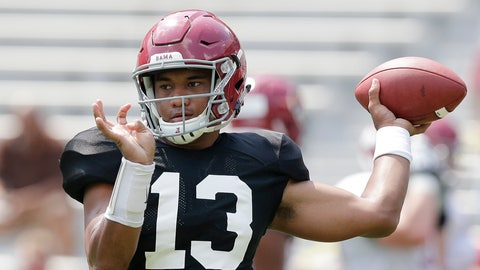 <p>               FILE - In this Aug. 5, 2017 file photo Alabama quarterback Tua Tagovailoa throws the ball during an NCAA college football practice at Bryant–Denny Stadium in Tuscaloosa, Ala. Tagovailoa signed a $30.275 million, four-year guaranteed contract with the Miami Dolphins, a person familiar with the negotiations confirmed Monday, May 11, 2020 to The Associated Press. (AP Photo/Brynn Anderson, file)             </p>