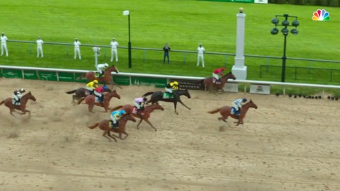 <p>               In this image taken from video provided by NBC Sports, Secretariat, right, crosses the finish line to win a computer-simulated version of the Kentucky Derby horse race between the 13 winners of the Triple Crown, Saturday, May 2, 2020, in Louisville, Ky. The race was part of NBC's substitute programming after the Kentucky Derby was postponed by the coronavirus pandemic. (NBC Sports via AP)             </p>