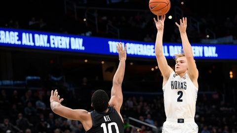 <p>               FILE - In this Jan. 28, 2020, file photo, Georgetown guard Mac McClung (2) shoots as he is defended by Butler forward Bryce Nze (10) during the second half of an NCAA college basketball game, in Washington. Former Georgetown guard McClung has signed with Texas Tech after Davide Moretti's departure from the Red Raiders to play professionally at home in Italy. Coach Chris Beard said Thursday, May 28, 2020, that McClung had officially signed with the Red Raiders. (AP Photo/Nick Wass, File)             </p>