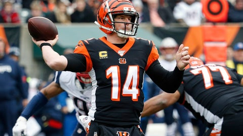 <p>               FILE - In this Dec. 15, 2019, file photo, Cincinnati Bengals quarterback Andy Dalton (14) passes in the first half of an NFL football game against the New England Patriots in Cincinnati. Dalton is coming home to Texas as Dak Prescott's backup with the Dallas Cowboys. Dalton and the Cowboys agreed to a one-year deal that guarantees the former Cincinnati starter $3 million and could be worth up to $7 million, two people with direct knowledge of the deal told The Associated Press on Saturday, May 2, 2020. (AP Photo/Frank Victores, File)             </p>