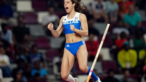 <p>               FILE - In this Sept. 29, 2019, file photo, Katerina Stefanidi, of Greece, competes in the women's pole vault final at the World Athletics Championships in Doha, Qatar. Three of the leading women's pole vaulters will take their turn to compete in the second edition of the Ultimate Garden Clash. Katerina Stefanidi of Greece, Katie Nageotte of the United States and Alysha Newman of Canada will participate in the event but won't be competing in their backyards since they don't have the equipment at home. They will instead be at nearby training facilities. (AP Photo/David J. Phillip, File)             </p>