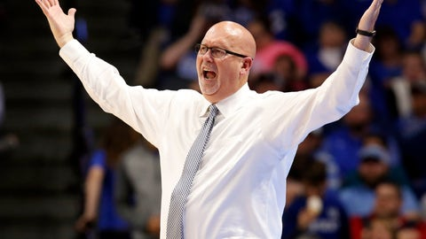 <p>               FILE - In this Nov. 17, 2017, file photo, East Tennessee State head coach Steve Forbes reacts to a play during the second half of an NCAA college basketball game against Kentucky in Lexington, Ky. Wake Forest has hired East Tennessee State's Steve Forbes as its men's basketball coach. The school announced the hiring Thursday, April 30, 2020. (AP Photo/James Crisp, File)             </p>