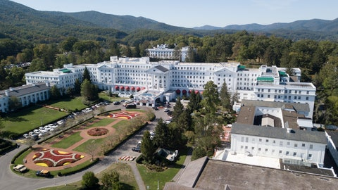 <p>               FILE - This Sept. 15, 2019, file photo shows The Greenbrier resort nestled in the mountains in White Sulphur Springs, W.Va. Several NFL teams are eyeing the resort owned by West Virginia Gov. Jim Justice as a potential training facility during the coronavirus pandemic. A spokesman for The Greenbrier resort on Wednesday, May 13, 2020 said they've been contacted by teams but no one has officially signed on to practice there this year. (AP Photo/Steve Helber, File)             </p>