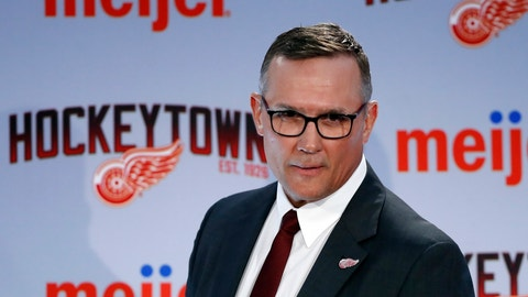 <p>               FILE - In this April 19, 2019, file photo, Steve Yzerman walks into the news conference where he was introduced as the new executive vice president and general manager of the Detroit Red Wings NHL hockey club in Detroit. The Red Wings could actually benefit from an adjusted draft lottery that gives him better odds at the top pick, likely Alexis Lafreniere. (AP Photo/Carlos Osorio, File)             </p>