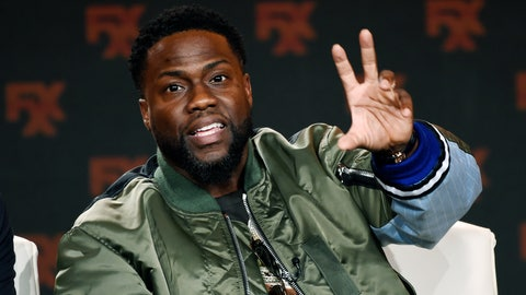 <p>               FILE - In this Jan. 9, 2020 file photo shows Kevin Hart during an interview in Pasadena, Calif.  Hart offered a walk-on role in a future film to a health-care worker in the COVID-19 fight. New Jersey anesthesiologist Henry Law, was randomly selected as the winner in an All In Challenge contest. The challenge raises money for organizations that are feeding the hungry during the coronavirus pandemic. (AP Photo/Chris Pizzello, File)             </p>