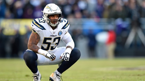 <p>               FILE - In this Jan. 6, 2019, file photo, Los Angeles Chargers center Mike Pouncey kneels on the field in the second half of an NFL wild card playoff football game against the Baltimore Ravens in Baltimore. Pouncey says he is ready to go whenever NFL teams are allowed to return to their facilities and hold workouts or training camp. Where Pouncey and his Los Angeles Chargers teammates might be playing though is becoming a bigger question. (AP Photo/Gail Burton, File)             </p>