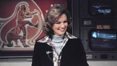 "<p>               FILE - In this Nov. 28, 1976 file photo, CBS sportscaster Phyllis George is seen in New York. Phyllis George, the former Miss America who became a female sportscasting pioneer on CBS's ""The NFL Today"" and served as the first lady of Kentucky, has died. She was 70. A family spokeswoman said George died Thursday, May 14, 2020, at a Lexington hospital after a long fight with a blood disorder.(AP Photo/Suzanne Vlamis, File)             </p>"