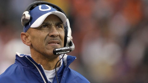 <p>               FILE - In this Nov. 30, 2008, file photo, Indianapolis Colts coach Tony Dungy watches from the sideline as his team plays the Cleveland Browns during the third quarter of an NFL football game in Cleveland. Dungy won a Super Bowl with the Colts after the 2006 season. Four of Dungy's former defensive assistants went on to get head coaching jobs: Mike Tomlin, Herm Edwards, Lovie Smith and Leslie Frazier. His former offensive coordinator in Indianapolis, Jim Caldwell, also got head coaching opportunities with the Colts and Detroit. (AP Photo/Amy Sancetta, File)             </p>