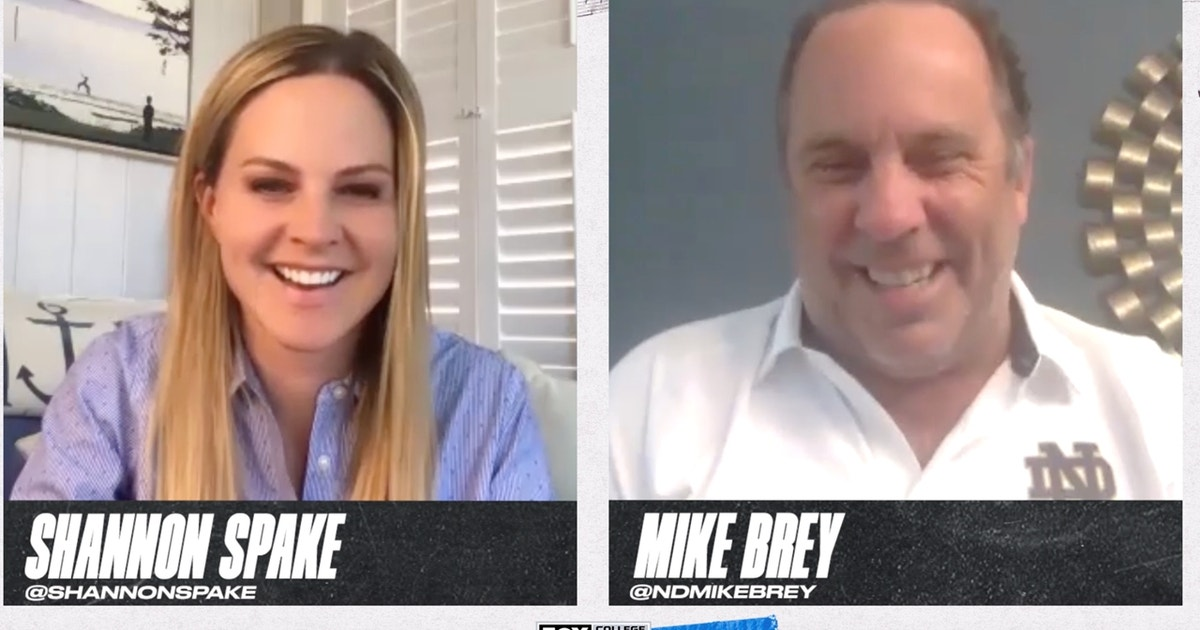 Notre Dame's Mike Brey on Quarantine life goes 1 Up 1 Down with Shannon Spake (VIDEO)