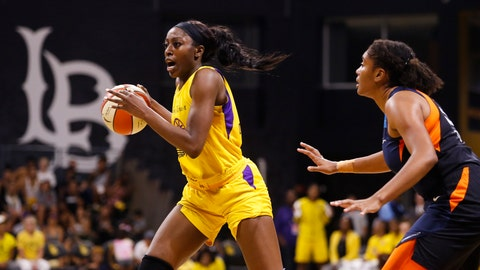 <p>               FILE - In this Sunday, Sept. 22, 2019, file photo, Los Angeles Sparks' Chiney Ogwumike (13) drives past Connecticut Sun's Morgan Tuck (33) during the second half of Game 3 of a WNBA basketball playoff game in Long Beach, Calif. The Los Angeles Sparks will be without Ogwumike and Kristi Toliver for the WNBA season so they can focus on their health the team announced Friday, June 26, 2020. (AP Photo/Ringo H.W. Chiu, File)             </p>