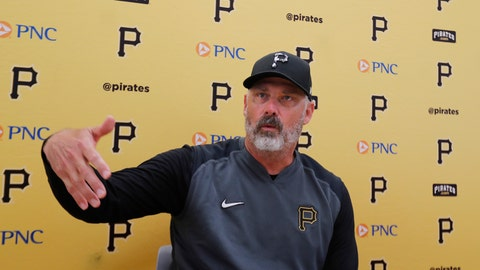 <p>               FILE - In this March 12, 2020, file photo, Pittsburgh Pirates manager Derek Shelton addresses the media after a spring training baseball game against the Toronto Blue Jays, in Bradenton, Fla. Shelton can't wait to get around his players, and not just because the first-year Pirates manager can show off his new pair of Jordans. Shelton is in a tight spot as he tries to get up to speed quickly with an organization he's been a part of for less than seven months.(AP Photo/Carlos Osorio, File)             </p>