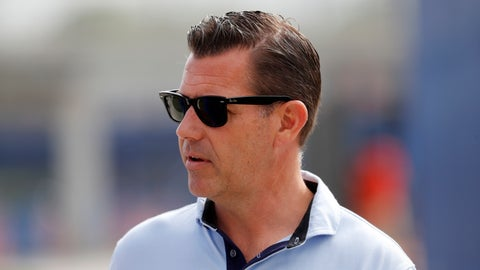 """<p>               FILE - In this Feb. 15, 2020, file photo, New York Mets general manager Brodie Van Wagenen attends baseball spring training for the team in Port St. Lucie, Fla. As baseball's amateur draft was winding down, the Mets selected Eric Orze — a two-time cancer survivor. """"To go through what he went through a couple of years ago when it would have been easy to stop playing baseball or lose his purpose, and he never did,"""" Van Wagenen said. """"And so, he's motivated and he wants the challenge of professional baseball and we're glad to be able to give him that opportunity."""" (AP Photo/Jeff Roberson, File)             </p>"""