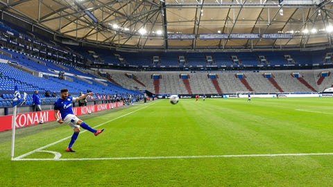 <p>               FILE - In this May 24, 2020 file photo, Schalke's Daniel Caligiuri kicks the ball in front of empty seats during the German Bundesliga soccer match between FC Schalke 04 and FC Augsburg at the Veltins-Arena in Gelsenkirchen, Germany. Soccer clubs are finding creative ways to stem revenue losses by offering season ticket holders alternatives to refunds for games being played in empty stadiums because of coronavirus pandemic. Teams are offering live streams of matches, future discounts, free tickets to cup games and credit for 2020-21 season tickets in exchange for refunds. Many clubs also give the option of sending refunds to a charity. (AP Photo/Martin Meissner, File)             </p>