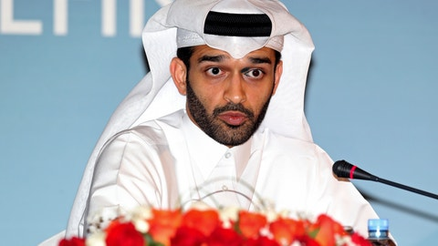 <p>               FILE - In this Thursday, Feb 25, 2015 file photo, Hassan Al Thawadi, head of the Qatar 2022 World Cup organizing committee he speaks during a press conference, in Doha. Organizers of the World Cup in Qatar are concerned that many fans won't be able to afford traveling to the tournament in 2022 if the coronavirus pandemic causes a global recession. (AP Photo/Osama Faisal, File)             </p>